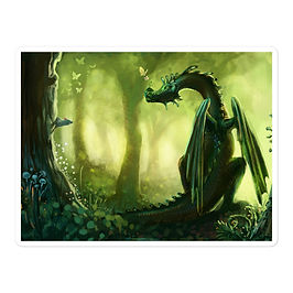 "Stickers ""Forest"" by Hymnodi"