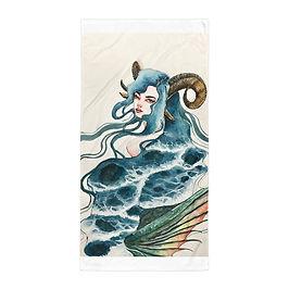 """Beach Towel """"Capricorn"""" by Bikangarts"""