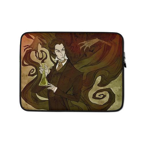"Laptop sleeve ""Jekyll and Hyde"" by AbigailLarson"