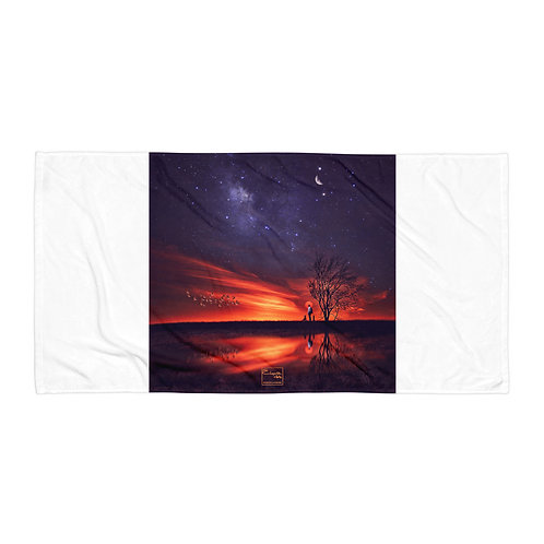 """Beach Towel """"A Special Sunset"""" by Elysekh"""