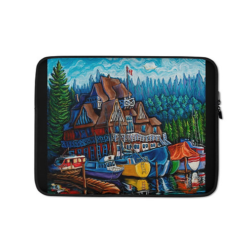 """Laptop sleeve """"Vancouver Rowing Club"""" by LauraZee"""