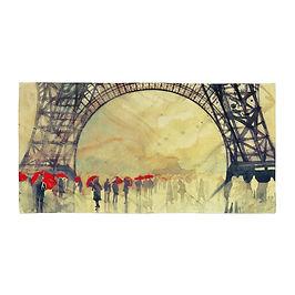 """Beach Towel """"Winter in Paris"""" by """"Takmaj"""""""
