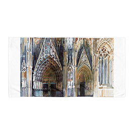 """Beach Towel """"Koin Cathedral"""" by """"Takmaj"""""""