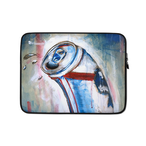 """Laptop sleeve """"Blue Ribbon"""" by MikeOncley"""