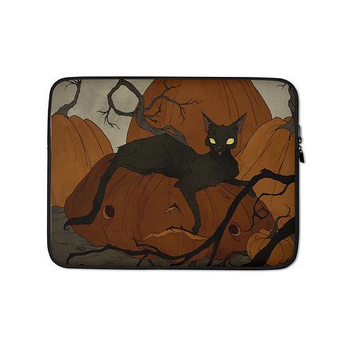 "Laptop sleeve ""Black Cat"" by AbigailLarson"