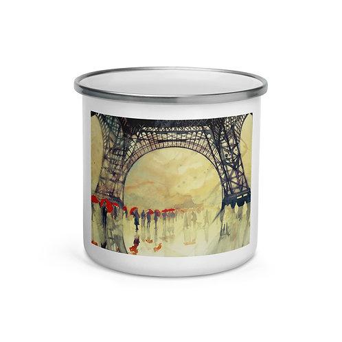 "Enamel Mug ""Winter in Paris"" by ""Takmaj"""