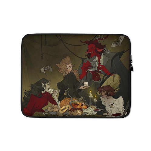 """Laptop sleeve """"Bewitching Banquet"""" by AbigailLarson"""