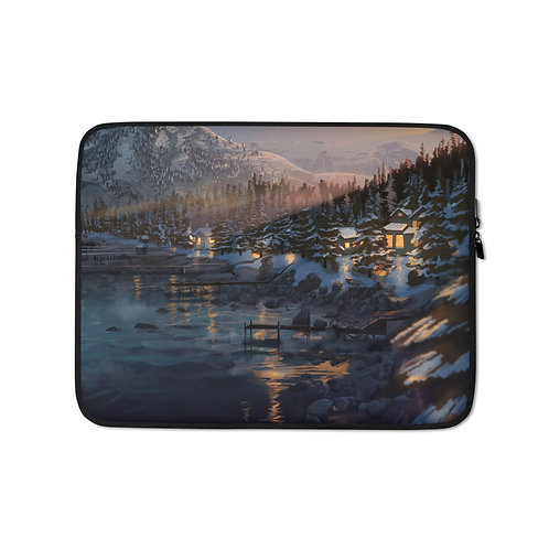 """Laptop sleeve """"Lake Tahoe"""" by Chateaugrief"""