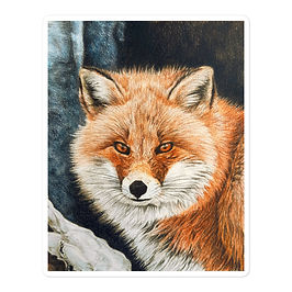 """Stickers """"Red Fox Fire and Frost"""" by Beckykidus"""
