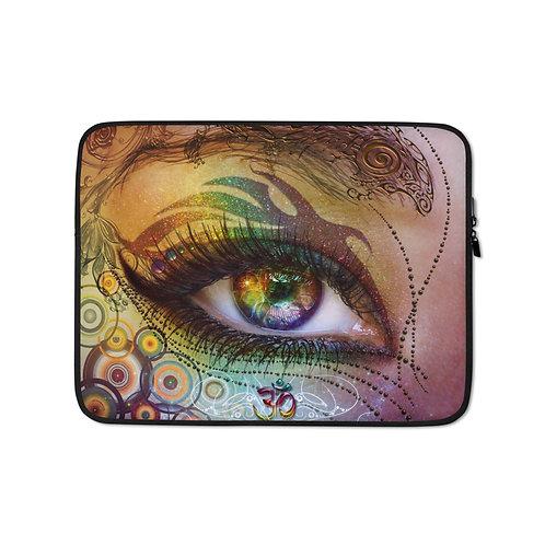 "Laptop sleeve ""Rainbow Eye"" by Lilyas"