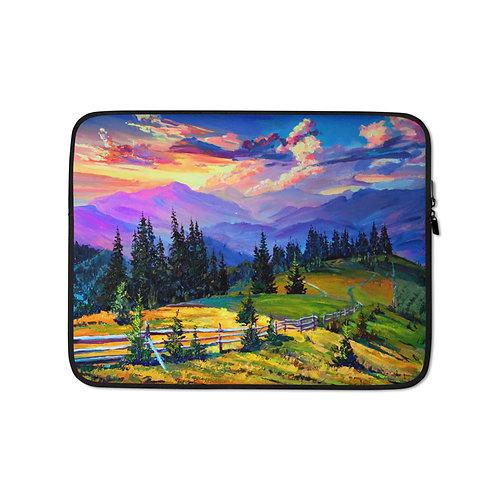 """Laptop sleeve """"Sunset"""" by Gudzart"""