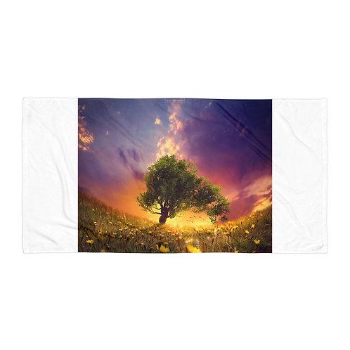 "Beach Towel ""The Firefly Tree"" by Elysekh"