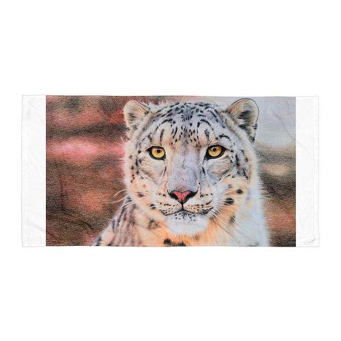 "Beach Towel ""Snow Leopard"" by Beckykidus"