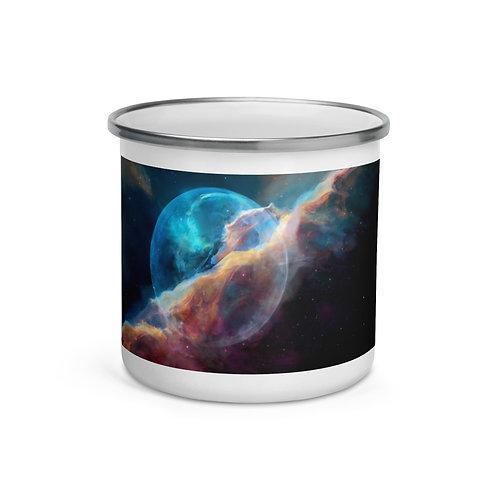 """Enamel Mug """"Hubble Bubble"""" by """"JoeyJazz"""""""