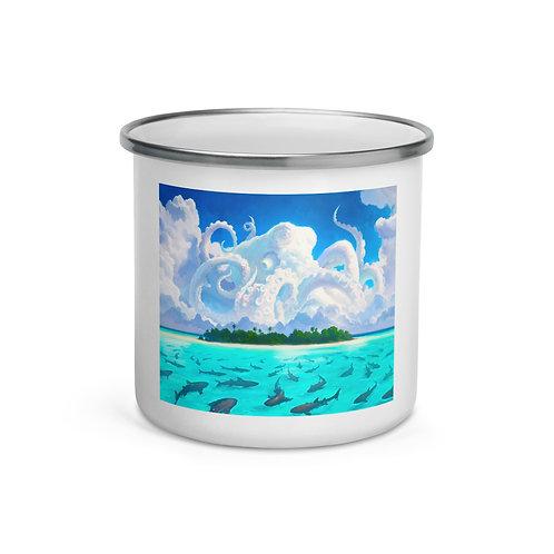"Enamel Mug ""Dangerous Waters"" by ""RHADS"""