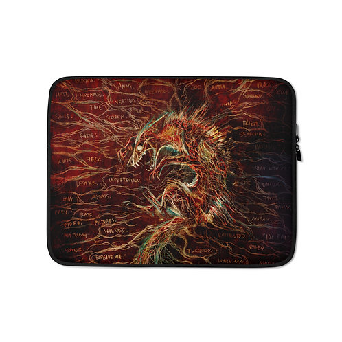 """Laptop sleeve """"The Cry of Pain"""" by Culpeo-Fox"""