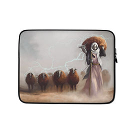 """Laptop sleeve """"Android Dreams"""" by Hymnodi"""