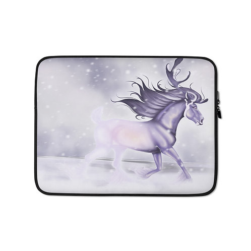 """Laptop sleeve """"Arctic Ghost"""" by Astralseed"""
