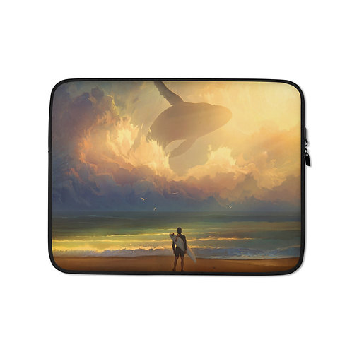 """Laptop sleeve """"Waiting for the Wave"""" by RHADS"""