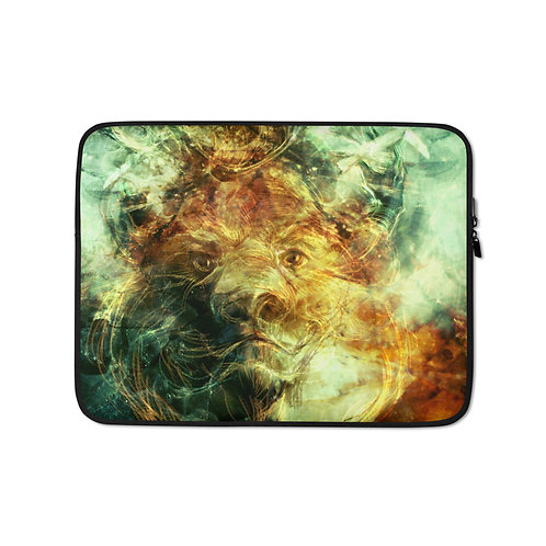 """Laptop sleeve """"Of Lions and Butterflies"""" by Solar-sea"""