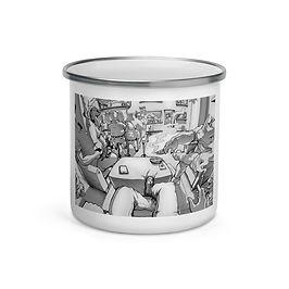 "Enamel Mug ""Rehab"" by Ccayco"