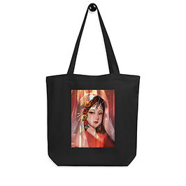 """Tote bag """"Button Girl"""" by Pigliicorn"""