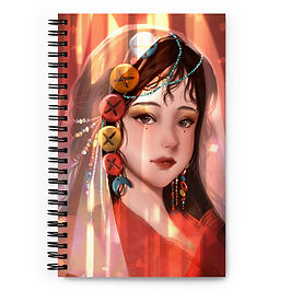"""Notebook """"Button Girl"""" by Pigliicorn"""