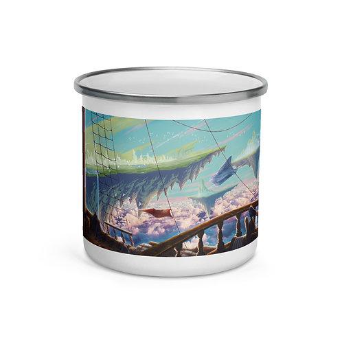 "Enamel Mug ""Sea of Clouds"" by Ashnoalice"