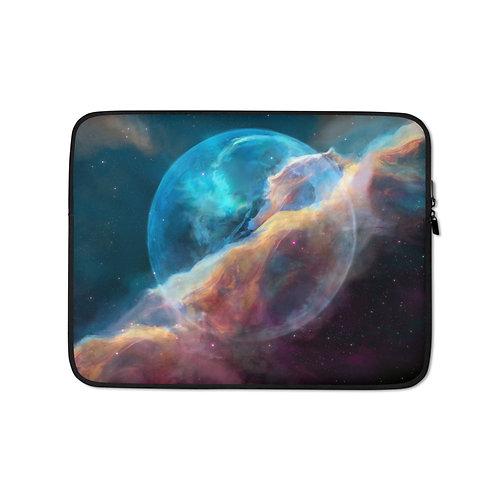 """Laptop sleeve """"Hubble Bubble"""" by JoeyJazz"""