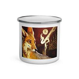 """Enamel Mug """"culpeo fox"""" by """"Culpeo-Fox"""""""
