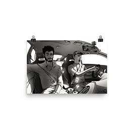 """Poster """"Long Drive"""" by Ccayco"""