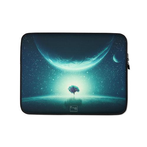 """Laptop sleeve """"Space Tree"""" by Elysekh"""