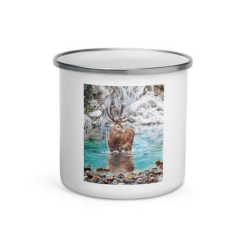 "Enamel Mug ""The Freezing Stag"" by Beckykidus"