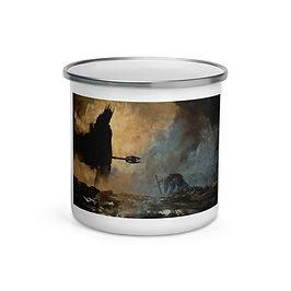 """Enamel Mug """"The Fate of Isildur"""" by """"Anatofinnstark"""""""