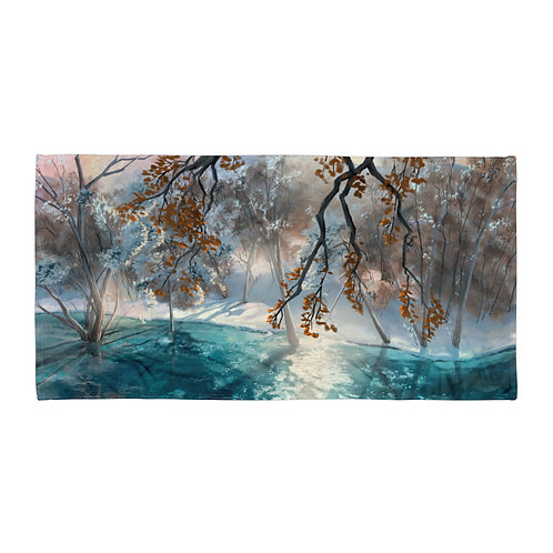 """Beach Towel """"Winter Snow"""" by """"chateaugrief"""""""