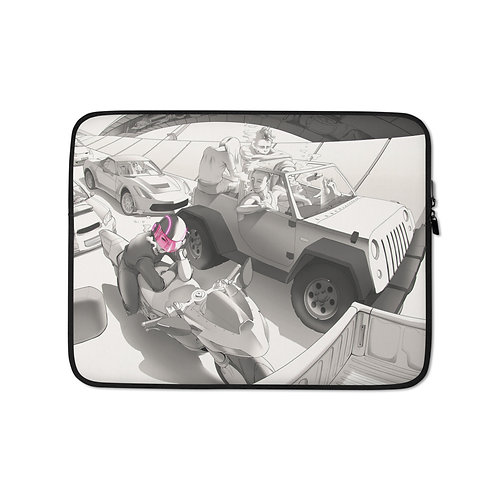 """Laptop sleeve """"Traffic"""" by Ccayco"""
