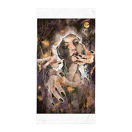 "Beach Towel ""The Ghost Inside"" by Bikangarts"