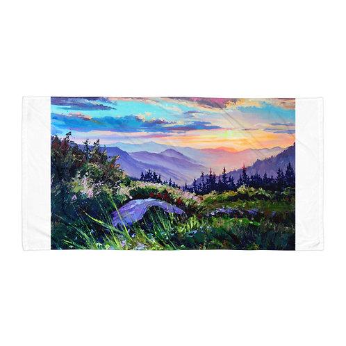 """Beach Towel """"Sunset"""" by Gudzart"""