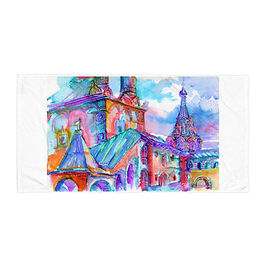 "Beach Towel ""Caramelle Architecture"" by Solar-sea"