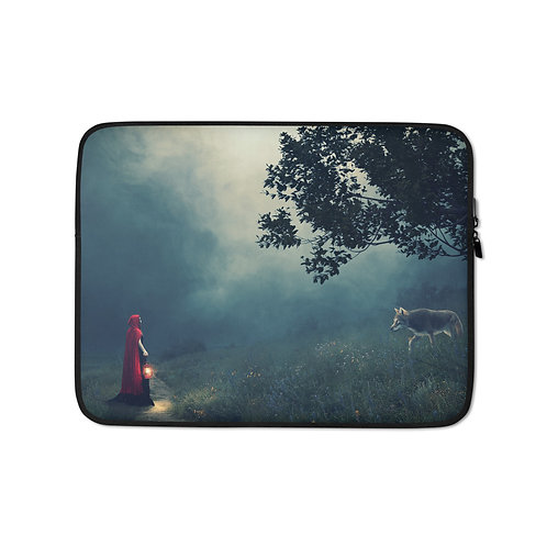 "Laptop sleeve ""Meeting in the Fog"" by Elysekh"