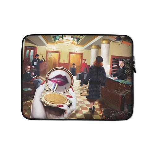 "Laptop sleeve ""Grand International Hotel"" by JeffLeeJohnson"