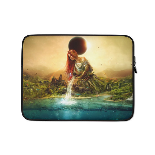 """Laptop sleeve """"Fountain of Eternity"""" by Aegis-Illustration"""