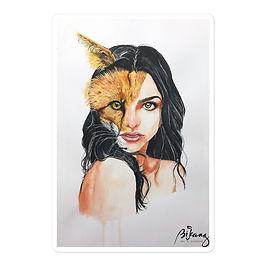 """Stickers """"A Beautiful Beast"""" by Bikangarts"""