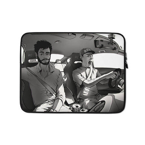 """Laptop sleeve """"Long Drive"""" by Ccayco"""