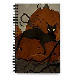 "Notebook ""Black Cat"" by AbigailLarson"