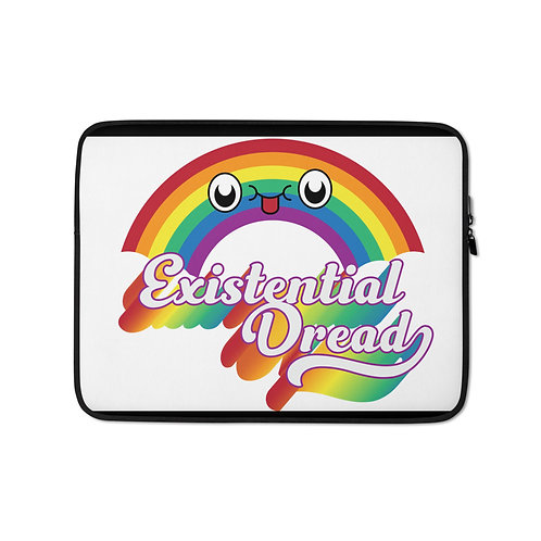 """Laptop sleeve """"Existential Dread"""" by Rezabisuto"""