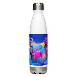 "Water Bottle ""Retro Fur Times"" by ""DasGnomo"""