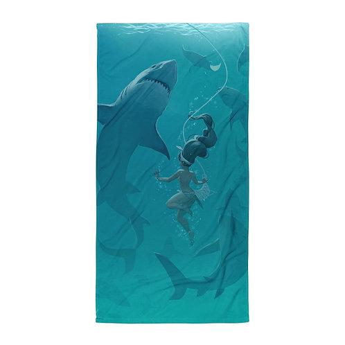 """Beach Towel """"Pearl Diver"""" by """"vashperado"""""""