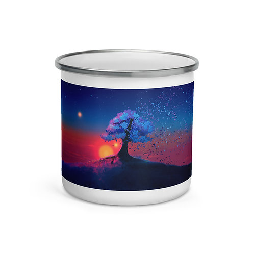 "Enamel Mug ""Just a Tree and a Breeze"" by ""JoeyJazz"""
