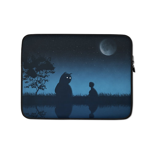 """Laptop sleeve """"The Friend of the Night"""" by Hotamr"""